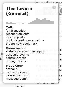 viewing a room menu