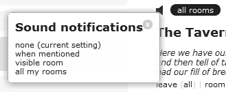 sound notification options